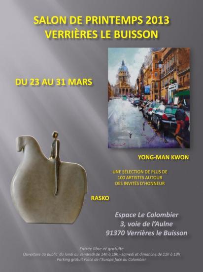 2013, 29ème salon de printemps, Verrières-le Buisson.