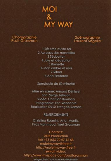 Back flyer pour Pazit Grossman chorégraphe et danseuse