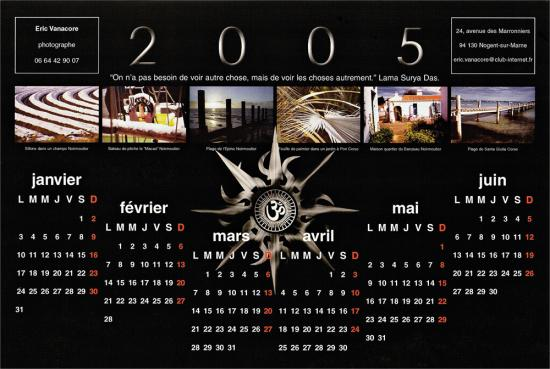 Calendrier 2005 version 2 recto
