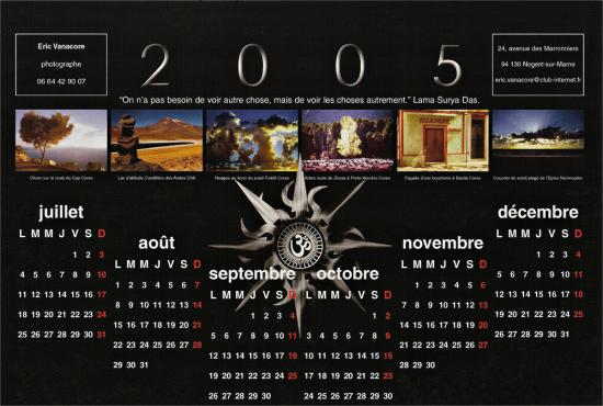 Calendrier 2005 version 2 verso