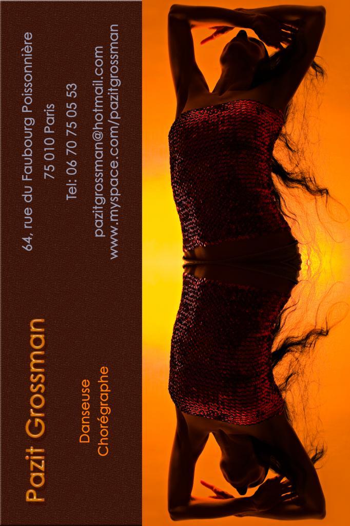 Carte de visite pour Pazit Grossman chorégraphe et danseuse