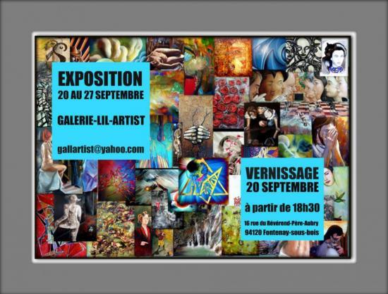 2011, Exposition Galerie LIL-ARTIST, Fontenay-sous-Bois.