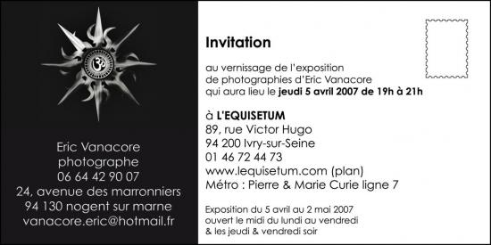 Carton Invitation Expo Ivry 2007 verso