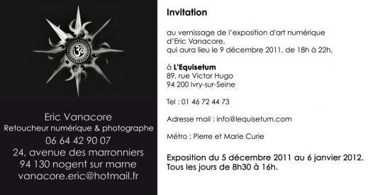 Carton invitation Expo Ivry 2011 verso