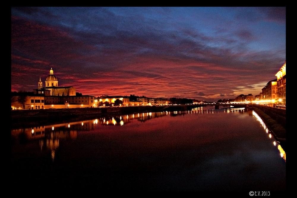 Firenze, au coucher