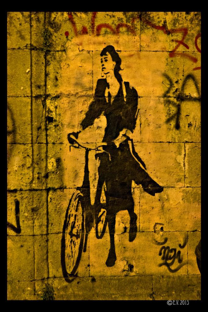 La femme et son vélo