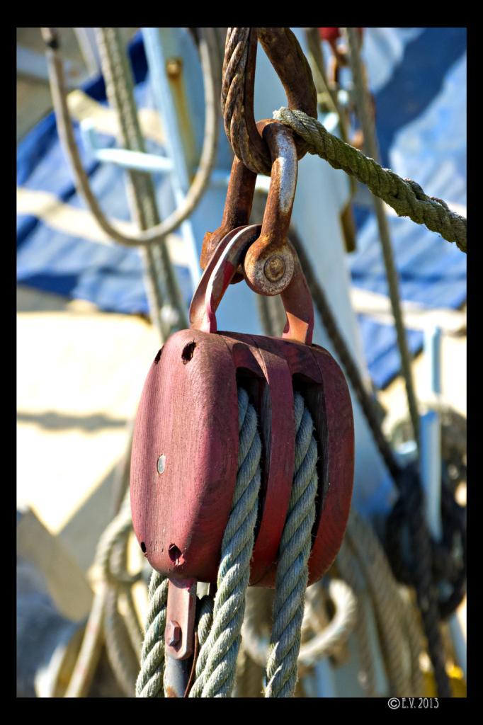 La poulie du voilier