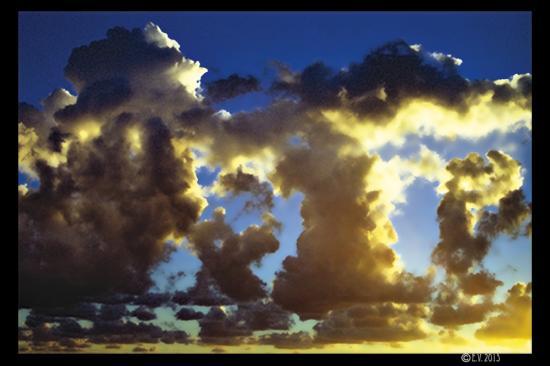 Les nuages s'élèvent
