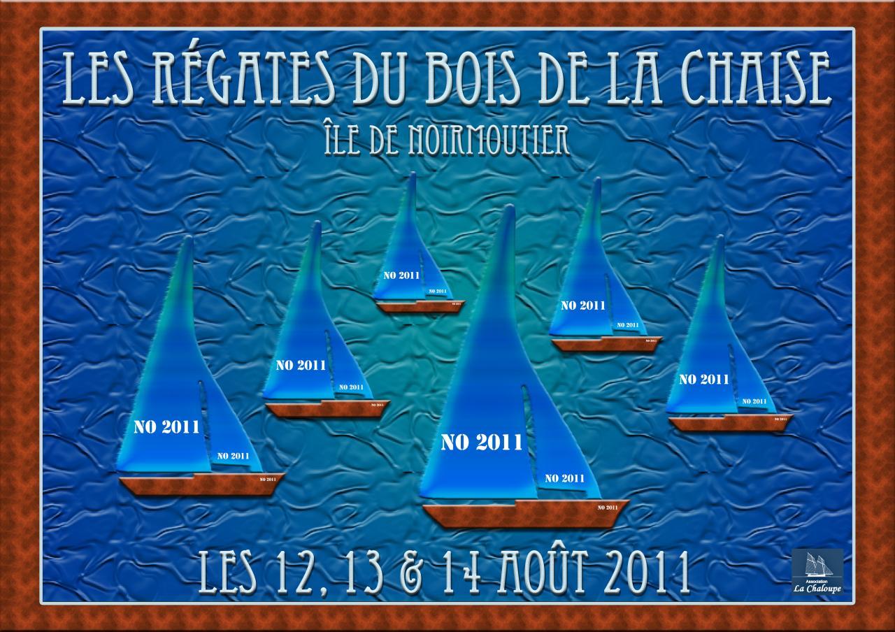 Proposition d'affiche pour les Régates du Bois de la Chaise 2011
